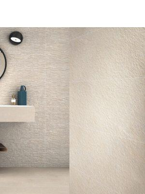 Suelo porcelánico rectificado Stonehenge Cream 40x120 cm.