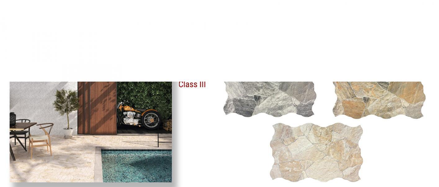 Suelo porcelánico Sella 44x66 cm.