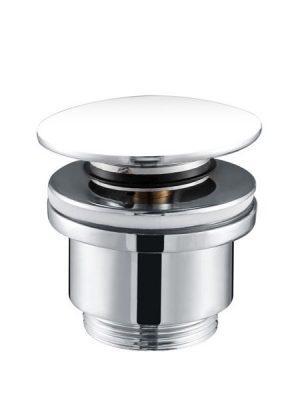 Válvula click clack blanco brillo para lavabos c/s rebosadero