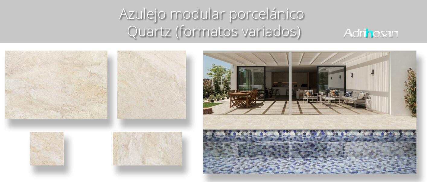 Azulejo modular porcelánico Quartz