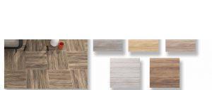 Gres antideslizante imitación madera Irazu 45x45 cm.