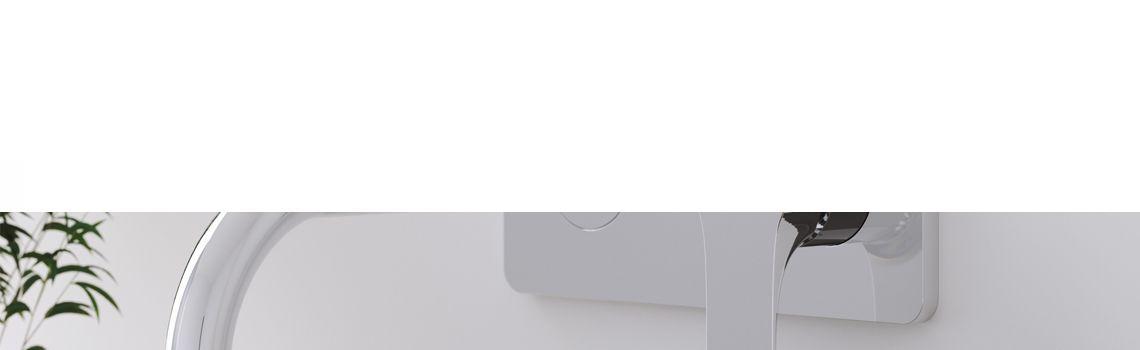 Monomando lavabo empotrado Bass cromo brillo Martelli Made in Italy.