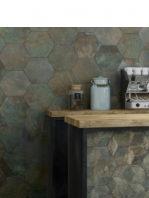 Pavimento hexagonal porcelánico Donegal Forest 28.5 x 33 cm.