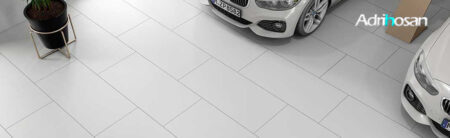 Pavimento porcelánico rectificado técnico blanco 60x120 cm.