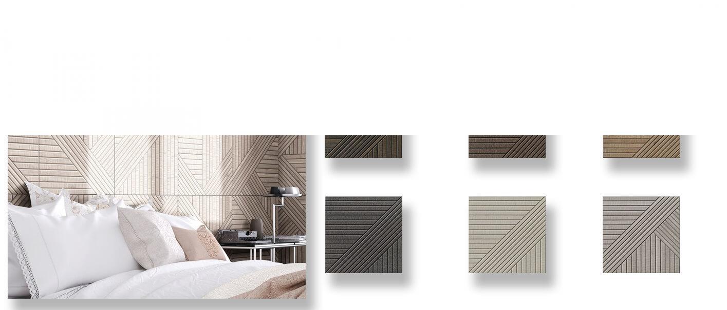 Pavimento porcelánico tangram skin 44X44 cm.