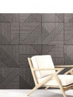 Pavimento porcelánico tangram skin black 44X44 cm.