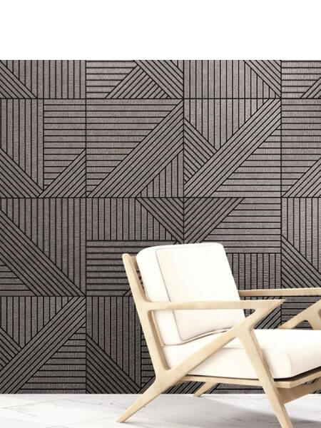 Pavimento porcelánico tangram skin black 44X44 cm (1,37 m2/cj)