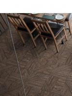 Pavimento porcelánico tangram skin walnut 44X44 cm.