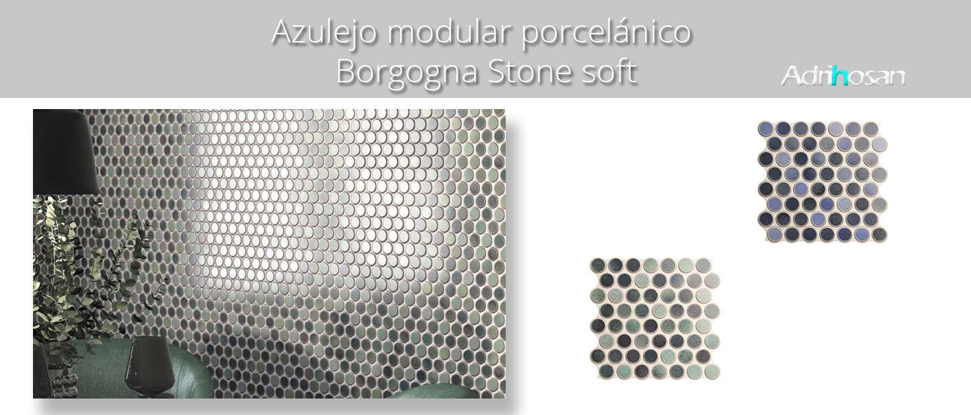 Revestimiento porcelánico Circle dakhla azure brillo 30,9 x 30,9 cm.