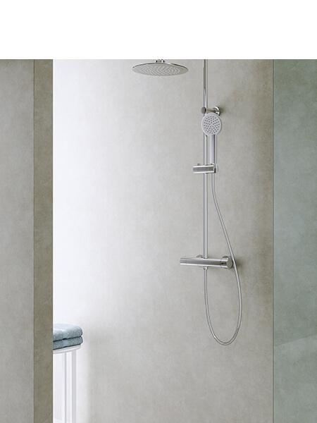 Columna de ducha termostática cromo Chiara Martelli Made in Italy