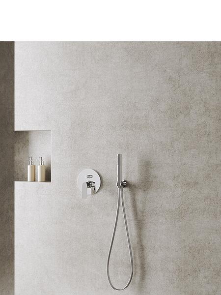 Conjunto ducha Livorno cromado Martelli Made in Italy