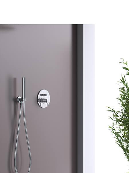 Conjunto ducha minimal cromado Martelli Made in Italy