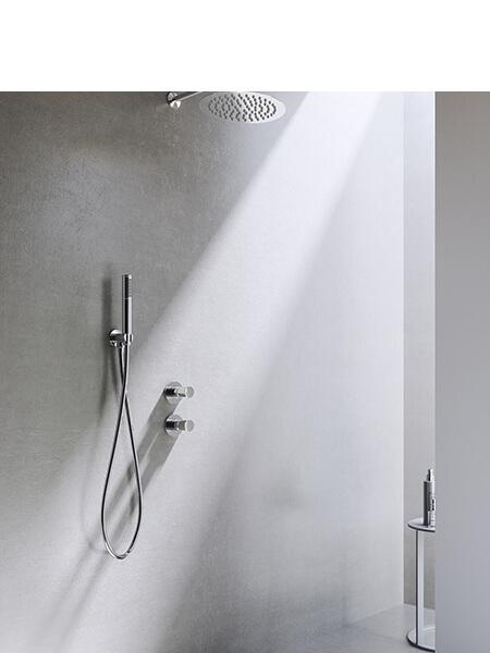 Conjunto ducha minimal free cromado Martelli Made in Italy