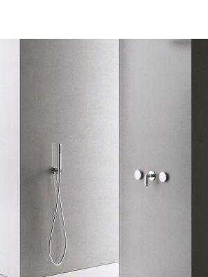 Conjunto ducha empotrado Vitally cromado Martelli Made in Italy.