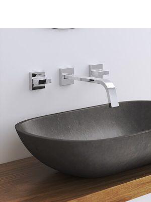 Grupo de lavabo empotrado a pared Bella Martelli Made in Italy.