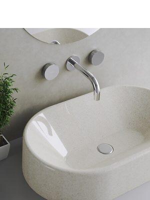 Grupo de lavabo empotrado a pared Vitaly Martelli Made in Italy.