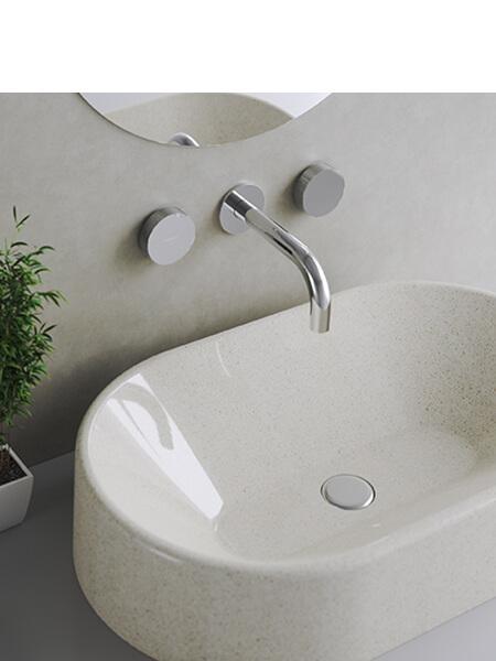 Grupo de lavabo empotrado a pared Vitaly Martelli Made in Italy
