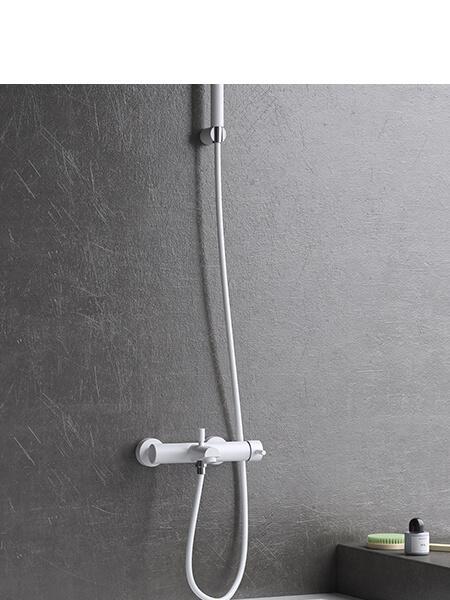 Monomando bañera minimal blanco mate Martelli Made in Italy