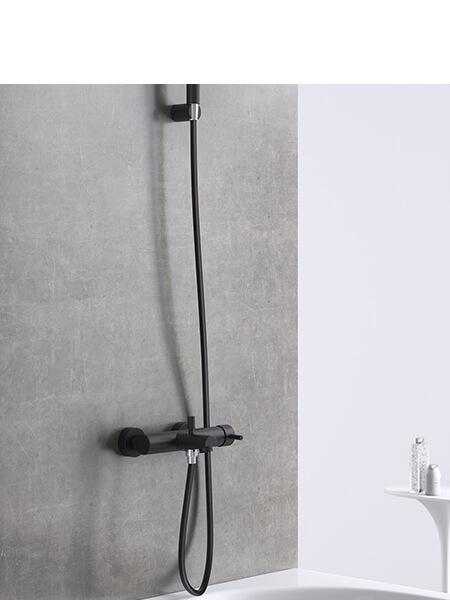 Monomando bañera minimal negro mate Martelli Made in Italy