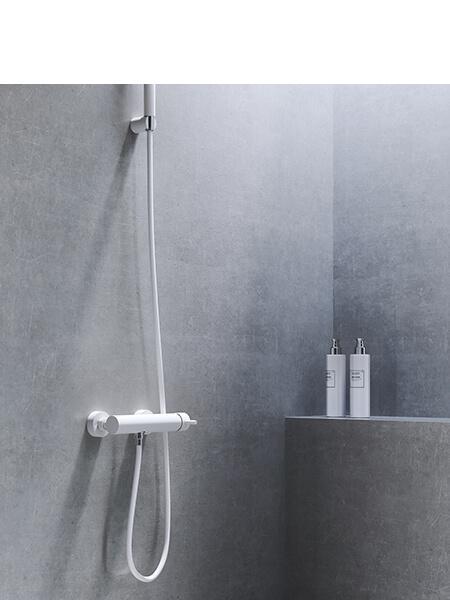 Monomando ducha minimal blanco mate Martelli Made in Italy