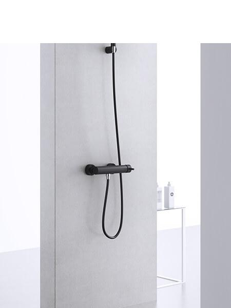 Monomando ducha minimal negro mate Martelli Made in Italy