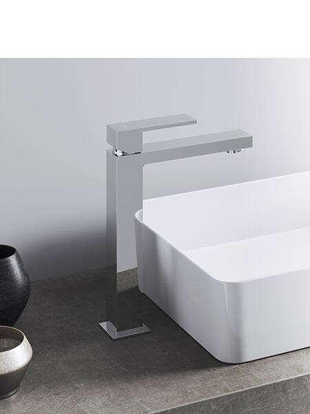 Monomando lavabo alto Cube cromado Martelli Made in Italy
