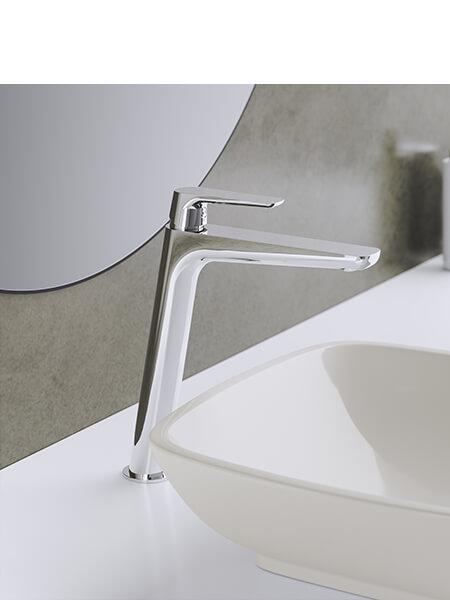 Monomando lavabo alto Livorno cromado Martelli Made in Italy
