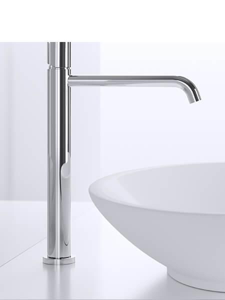 Monomando lavabo alto minimal free cromado Martelli Made in Italy