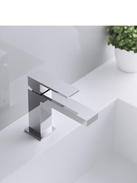 Monomando lavabo Cube cromado Martelli Made in Italy