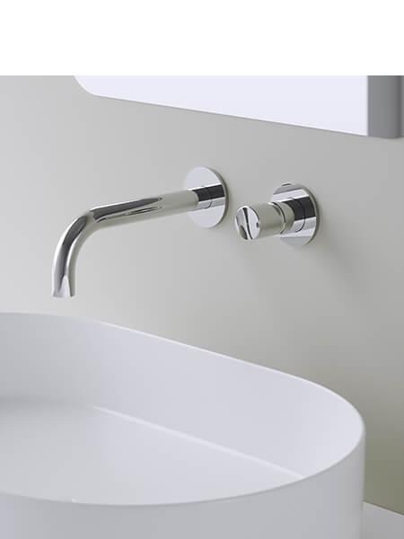 Monomando lavabo empotrado minimal free cromado Martelli Made in Italy (copia)