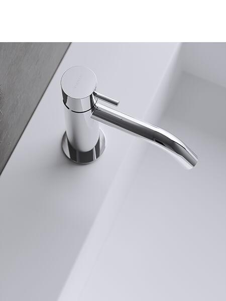 Monomando lavabo minimal cromado Martelli Made in Italy