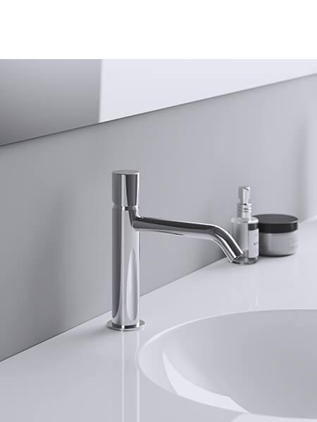 Monomando lavabo minimal free cromado Martelli Made in Italy
