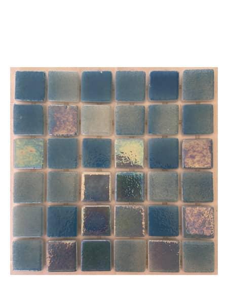 Gresite para piscinas tesela 2,5x2,5 cm puntos de silicona 49x31 cm azul claro nacarado