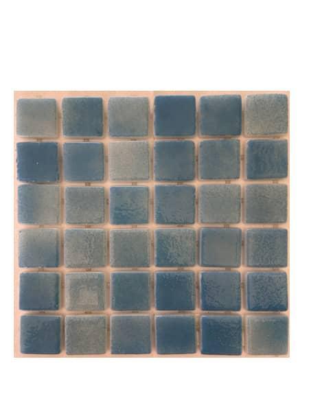 Gresite para piscinas tesela 2,5x2,5 cm puntos de silicona 49x31 cm azul claro N1205