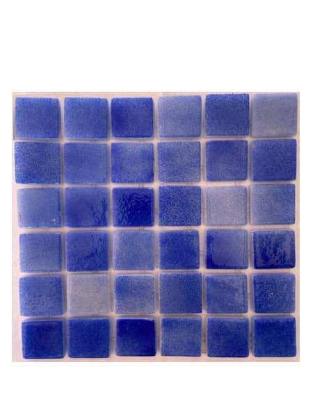 Gresite para piscinas tesela 2,5x2,5 cm puntos de silicona 49x31 cm azul oscuro N1207