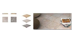 Pavimento antideslizante porcelánico Charger gris 33x33 cm