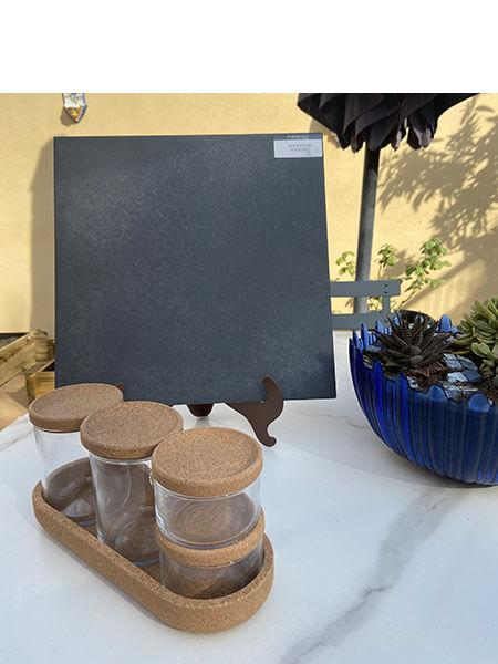 Pavimento antideslizante porcelánico Silex Black 33,3x33,3 cm (1,33 m2/cj)