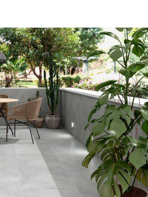 Pavimento antideslizante porcelánico Silex grey 33x33 cm.