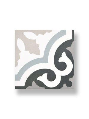 Pavimento porcelánico imitación hidráulico decor Urban Carlin 20 x 20 cm.