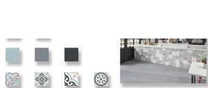 Pavimento porcelánico imitación hidráulico Urban 20 x 20 cm.