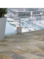 Pavimento porcelánico imitación pizarra Aspen multicolor 30 x 60 cm.
