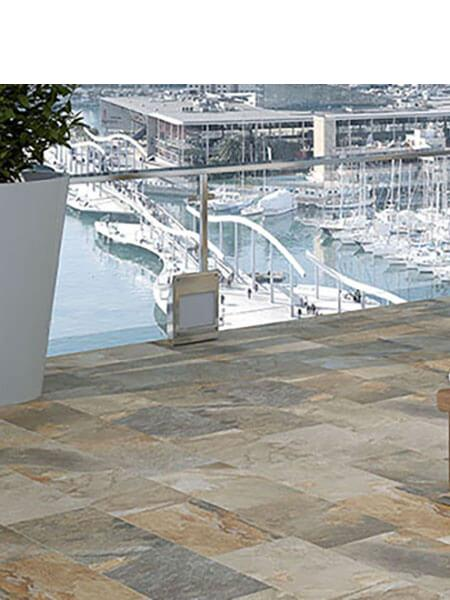 Pavimento porcelánico imitación pizarra Aspen multicolor 30 x 60 cm (1.08 m2/cj)