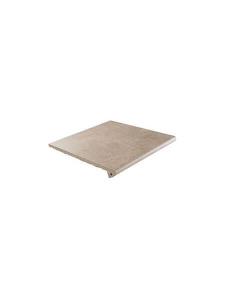 Peldaño Fiorentino antideslizante porcelánico Ford beige 33,3x33,3 cm