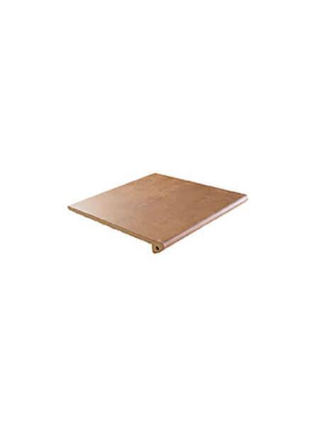 Peldaño Fiorentino antideslizante porcelánico Ford cuero 33,3x33,3 cm