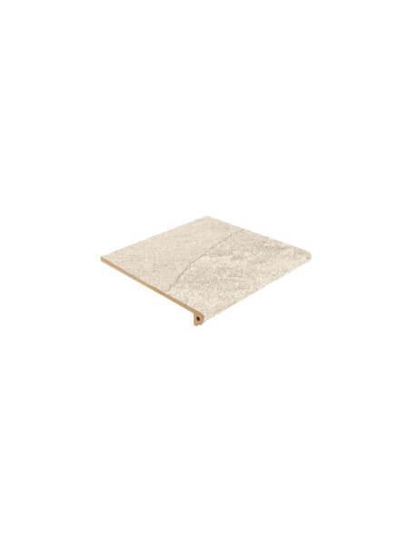 Peldaño Fiorentino antideslizante porcelánico takoda beige 33,3x33,3 cm