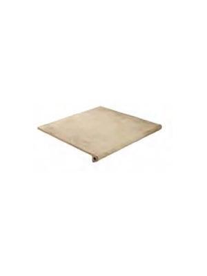 Peldaño fiorentino antideslizante porcelánico Charger beige 33x33 cm.