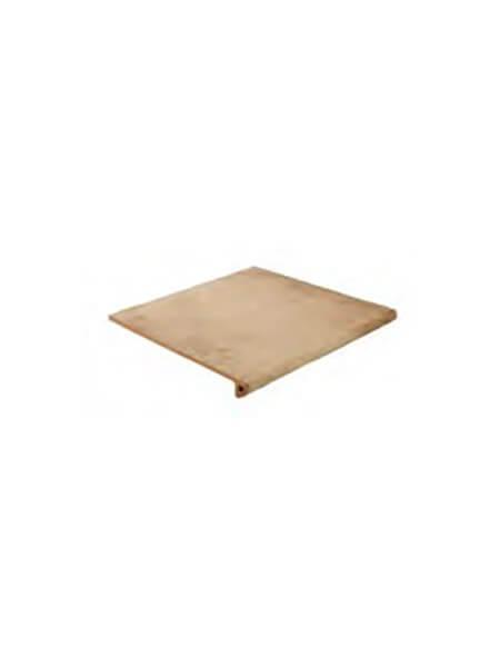 Peldaño Fiorentino antideslizante porcelánico Charger cuero 33,3x33,3 cm