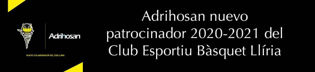 Adrihosan. Patrocinador oficial del Club espíritu Llíria