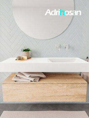 Badkamermeubel met solid surface wastafel model ALAN wit kast washoak front 00010 1