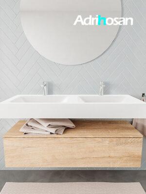 Badkamermeubel met solid surface wastafel model ALAN wit kast washoak front 00015 1